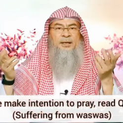 How to make intention to pray, read Quran etc? (Suffering from waswas