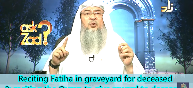 Reciting Fateha in the graveyard for deceased