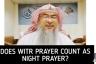 Does Witr Prayer count as Tahajjud / Night Prayer?