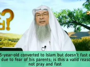A young person reverted to Islam, doesn't fast or pray fearing his parents, is it valid