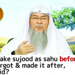 Had to make sujood as sahu before salam, forgot & made it after salam, is prayer valid