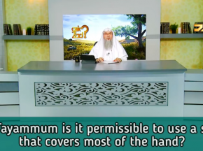 For Tayammum is it permissible to use a stone that covers most of the hand?