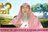 Is animation for educational purposes permissible in Islam?