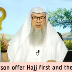 Can a person offer umrah first and then hajj?