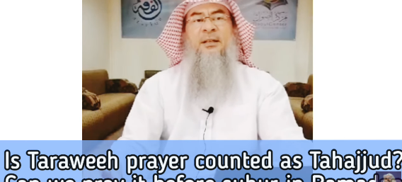 Is Taraweeh prayer counted as tahajjud?
