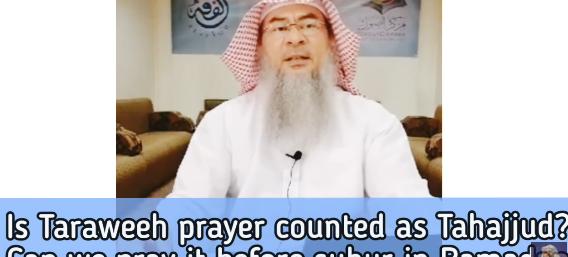 Is Taraweeh prayer counted as tahajjud?