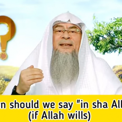 When should we say in sha Allah?