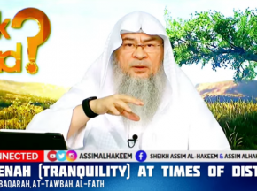 Reciting Ayahs of Sakeenah (Tranquility) at times of distress