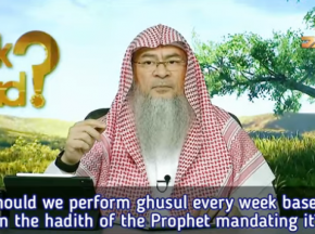 Must we perform ghusl every week based on the hadith of the Prophet mandating it?