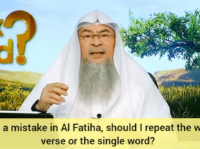 ​Made a mistake in Fateha or Tashahhud, should I repeat the whole Ayah or the single word
