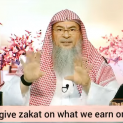 Must we give zakat on what we earn or what we possess?