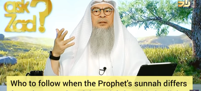 Who to follow when Prophet's sunnah differs from sunnah of 4 rightly guided caliphs?