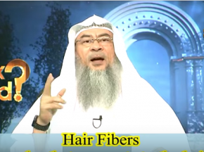 Hair fibers (Powder that connects to the hair), does it affect wudu and ghusl?