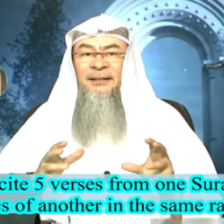 Can we recite few Ayahs from one Surah & a few Ayahs from another in the same rakah?