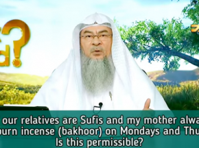 Most of our relatives are Sufis, Mother asks me to burn incense on Mondays & Thursdays, can I?