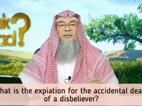 What is the expiation for the accidental death of a disbeliever?