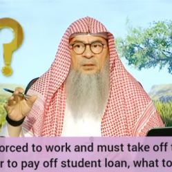 She is forced to work & must take off her niqab to pay off student loan, what to do?