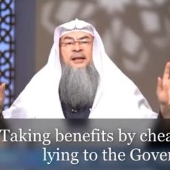 Taking benefits by Cheating or Lying to the government