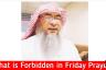 Things forbidden during Khutbah