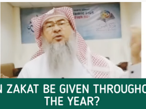Can Zakat be given throughout the year?