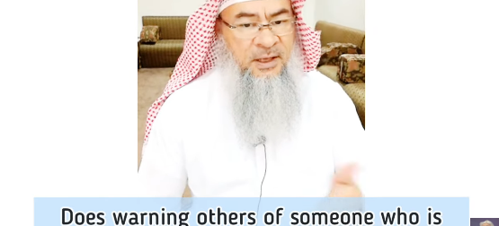 Warning others of someone who is potential threat or deviant preacher come under backbiting?