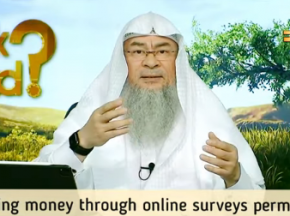 Is earning money through online surveys permissible?