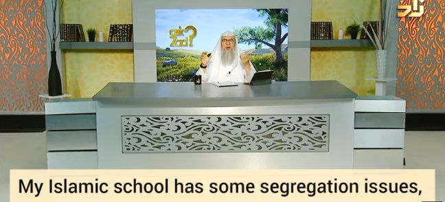 My Islamic school has co education, should I study there or at home?