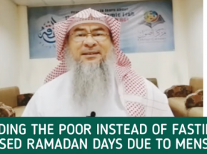 Feeding the poor instead of fasting missed Ramadan days due to menses?
