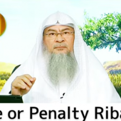 Is late fee (Fine) or penalty considered as Riba (Interest)?