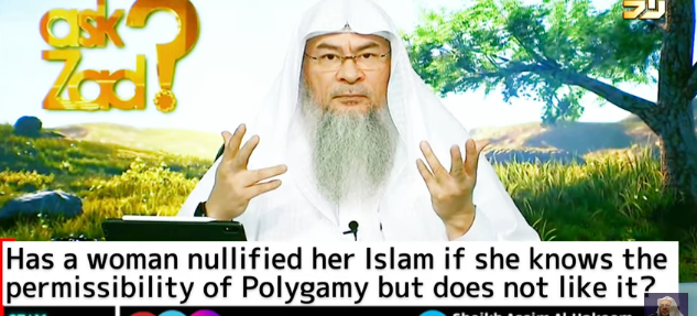 Has a woman nullified her Islam for doubting the permissibility of polygamy / Rejecting hijab?
