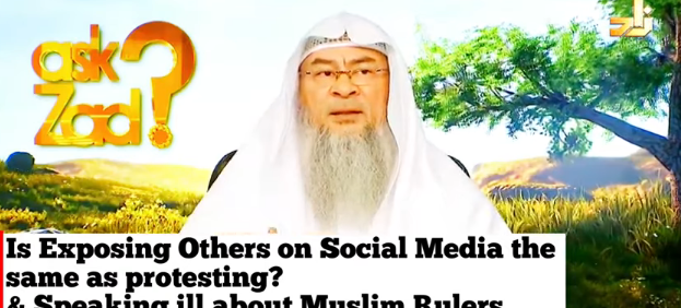 Is exposing people on Social Media same as Protesting? Speaking ill about Muslim Rulers