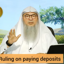 Ruling on paying security deposit when renting a house (huge deposit Riba?)