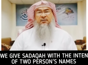 Can we give charity / sadaqa on behalf of two or more people?