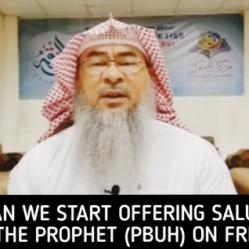 When to start offering salutations on Prophet salla Allahu alaihi wa sallam on Friday