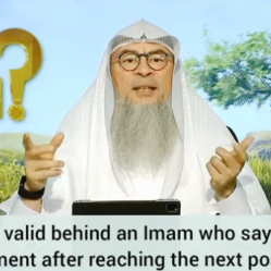 Is salah valid behind imam who says takbeer of movement after reaching next position?