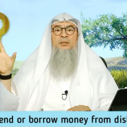 Can we lend or borrow money from disbelievers?