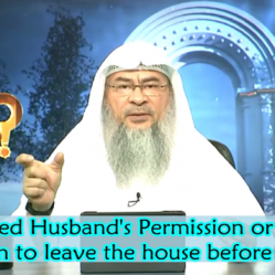 Need husband's permission or Father's permission to go out before consummating marriage?