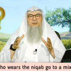 Can a girl who wears the niqab go to a mixed school / university?