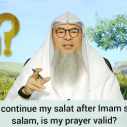 Stood up to continue my prayer after imam said the first salam, is my prayer valid?