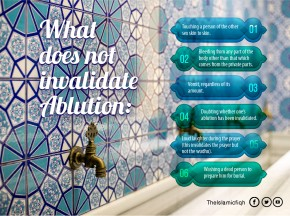 What does not invalidate Ablution