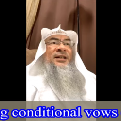Making conditional vow (Nadhr)