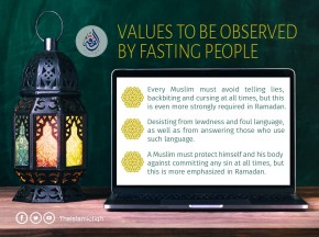 Values to be observed by fasting people