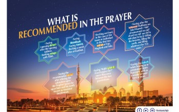 What is recommended in the prayer